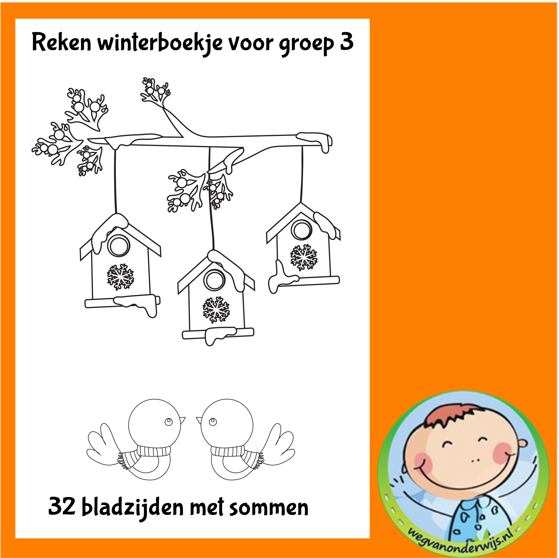 Ongebruikt Winter rekenboekje voor groep 3 - Weg van onderwijs GQ-18